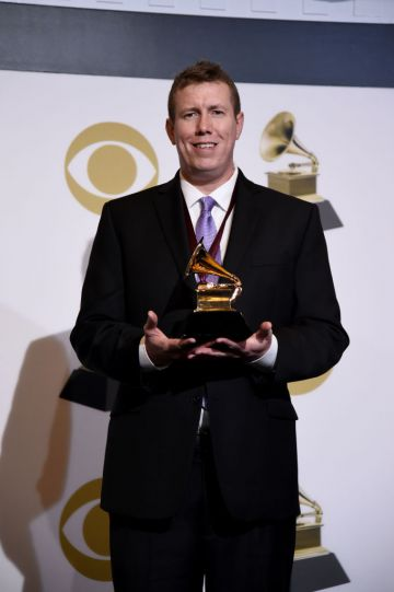 LOS ANGELES, CALIFORNIA - FEBRUARY 10: Darrell Thorp, winner of Best Engineered Album, Non-Classical for 'Colors', poses in the press room during the 61st Annual GRAMMY Awards at Staples Center on February 10, 2019 in Los Angeles, California. (Photo by Amanda Edwards/Getty Images)