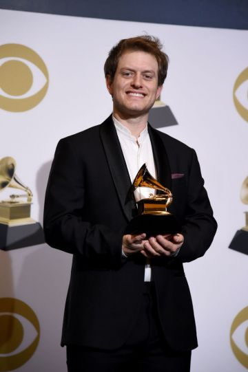 LOS ANGELES, CALIFORNIA - FEBRUARY 10: Cassidy Turbin, winner of Best Engineered Album, Non-Classical for 'Colors', poses in the press room during the 61st Annual GRAMMY Awards at Staples Center on February 10, 2019 in Los Angeles, California. (Photo by Amanda Edwards/Getty Images)