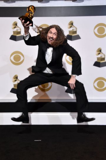 """LOS ANGELES, CA - FEBRUARY 10:  """"Weird Al"""" Yankovic poses in the press room during the 61st Annual GRAMMY Awards at Staples Center on February 10, 2019 in Los Angeles, California.  (Photo by Alberto E. Rodriguez/Getty Images for The Recording Academy)"""