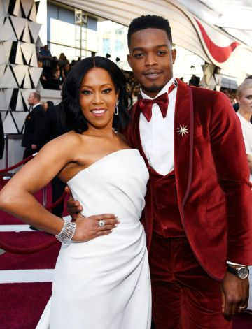 (L-R) Regina King and Stephan James attend the 91st Annual Academy Awards on February 24, 2019 in Hollywood, California. (Photo by Kevork Djansezian/Getty Images)