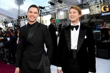 (L-R) Nicholas Hoult and Joe Alwyn attend the 91st Annual Academy Awards on February 24, 2019 in Hollywood, California. (Photo by Kevork Djansezian/Getty Images)