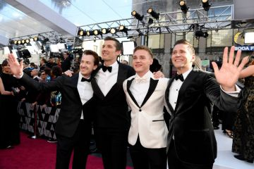 (L-R) Joseph Mazzello, Gwilym Lee, Ben Hardy, and Allen Leech attend the 91st Annual Academy Awards on February 24, 2019 in Hollywood, California. (Photo by Kevork Djansezian/Getty Images)