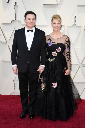 (L-R) Mike Myers and Kelly Tisdale attend the 91st Annual Academy Awards on February 24, 2019 in Hollywood, California. (Photo by Frazer Harrison/Getty Images)