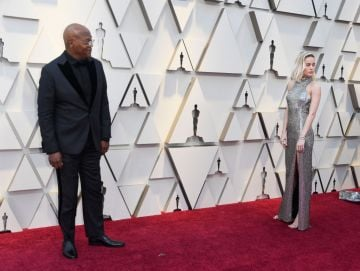 (L-R) Samuel L. Jackson and Brie Larson attend the 91st Annual Academy Awards on February 24, 2019 in Hollywood, California. (Photo by Frazer Harrison/Getty Images)