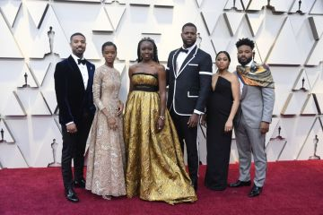 Michael B. Jordan and Black Panther cast attends the 91st Annual Academy Awards on February 24, 2019 in Hollywood, California. (Photo by Frazer Harrison/Getty Images)