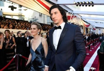 (L-R) Joanne Tucker and Adam Driver attend the 91st Annual Academy Awards on February 24, 2019 in Hollywood, California. (Photo by Kevork Djansezian/Getty Images)