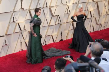 Olivia Coleman and Lady Gaga attend the 91st Annual Academy Awards on February 24, 2019 in Hollywood, California. (Photo by Neilson Barnard/Getty Images)