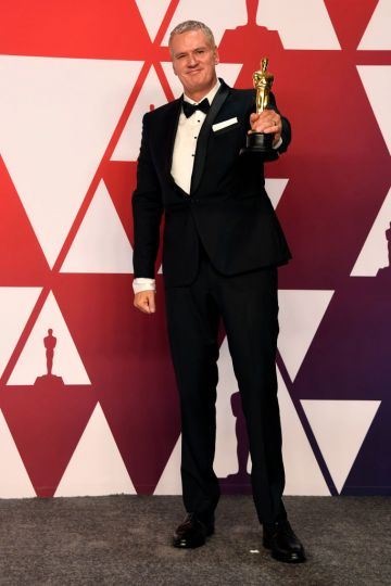 "HOLLYWOOD, CALIFORNIA - FEBRUARY 24: John Ottman, winner of Best Film Editing for ""Bohemian Rhapsody,"" poses in the press room during the 91st Annual Academy Awards at Hollywood and Highland on February 24, 2019 in Hollywood, California. (Photo by Frazer Harrison/Getty Images)"