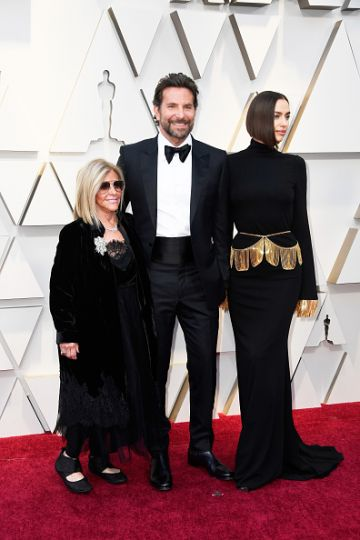 (L-R) Gloria Campano,  Bradley Cooper, and Irina Shayk attend the 91st Annual Academy Awards on February 24, 2019 in Hollywood, California. (Photo by Frazer Harrison/Getty Images)