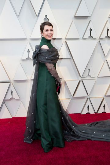 Olivia Colman at the 91st Academy Awards Red Carpet on February 24, 2019. (Photo by Rick Rowell via Getty Images)