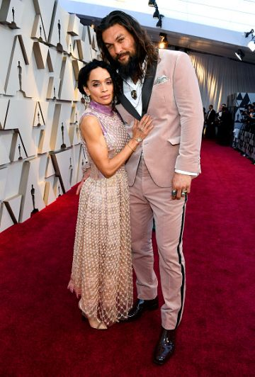 (L-R) Lisa Bonet and Jason Momoa attend the 91st Annual Academy Awards on February 24, 2019 in Hollywood, California. (Photo by Kevork Djansezian/Getty Images)