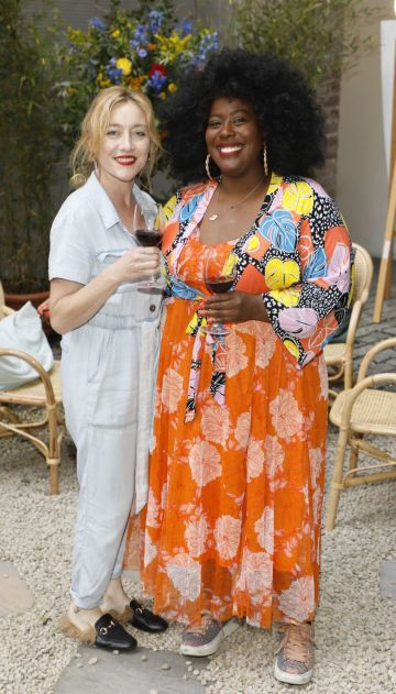 Trudy Hayes and Nadine King at the Centra 'Wines We Love' event in Dublin. Photo: Kieran Harnett
