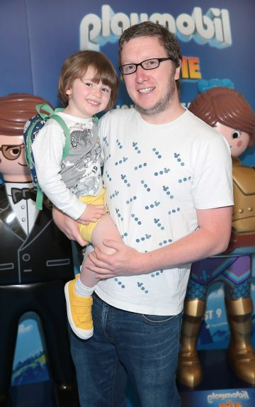 Sim Pinder and Moss Pinder at the special preview screening of Playmobil : The Movie. Photo: Brian McEvoy