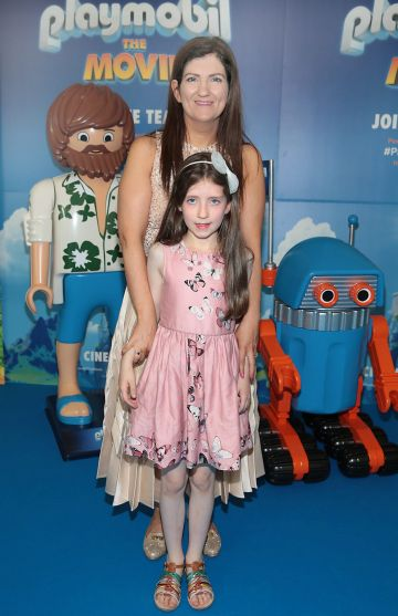 Olive Donnelly and Annemarie Donnelly at the special preview screening of Playmobil : The Movie. Photo: Brian McEvoy