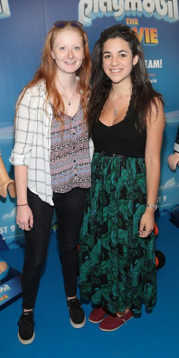 Heather Hodgins and Natalie Smith  at the special preview screening of Playmobil : The Movie. Photo: Brian McEvoy