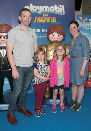 Jams Morrin, Madison Morrin ,Grainne Morrin and Elizabeth Morrin at the special preview screening of Playmobil : The Movie. Photo: Brian McEvoy
