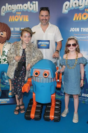 Caoimhe Heneghan, Jarlath Heneghan and Ava Tighe  at the special preview screening of Playmobil : The Movie. Photo: Brian McEvoy