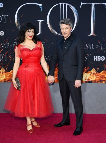 "NEW YORK, NEW YORK - APRIL 03: Camille O'Sullivan and Aidan Gillen attend the ""Game Of Thrones"" Season 8 Premiere on April 03, 2019 in New York City. (Photo by Dimitrios Kambouris/Getty Images)"