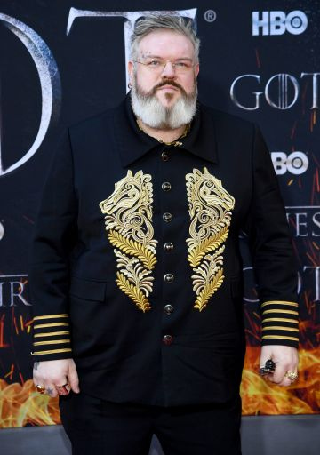 "NEW YORK, NEW YORK - APRIL 03: Kristian Nairn attends the ""Game Of Thrones"" Season 8 Premiere on April 03, 2019 in New York City. (Photo by Dimitrios Kambouris/Getty Images)"