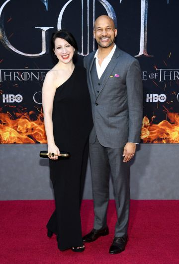 "NEW YORK, NEW YORK - APRIL 03: Elisa Pugliese and Keegan-Michael Key attend the ""Game Of Thrones"" Season 8 Premiere on April 03, 2019 in New York City. (Photo by Dimitrios Kambouris/Getty Images)"