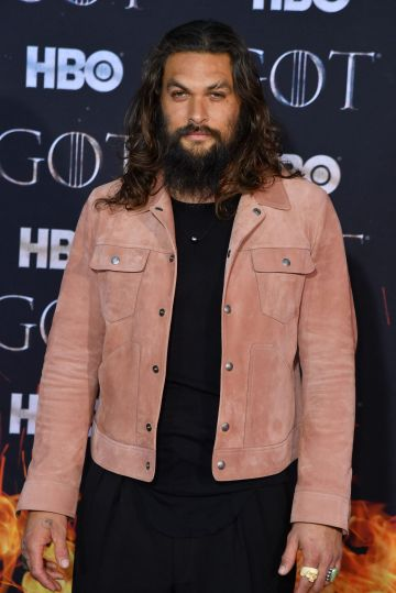 "US actor Jason Momoa arrives for the ""Game of Thrones"" eighth and final season premiere at Radio City Music Hall on April 3, 2019 in New York city. (Photo by Angela Weiss / AFP)        (Photo credit should read ANGELA WEISS/AFP/Getty Images)"