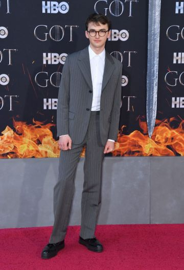 "British actor Isaac Hempstead Wright arrives for the ""Game of Thrones"" eighth and final season at Radio City Music Hall on April 3, 2019 in New York city. (Photo by Angela Weiss / AFP)        (Photo credit should read ANGELA WEISS/AFP/Getty Images)"