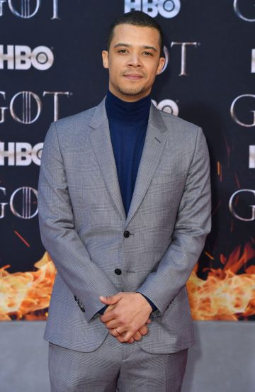 "British actor Jacob Anderson arrives for the ""Game of Thrones"" eighth and final season premiere at Radio City Music Hall on April 3, 2019 in New York city. (Photo by Angela Weiss / AFP)        (Photo credit should read ANGELA WEISS/AFP/Getty Images)"