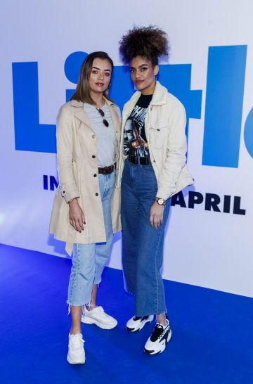 Megan Wren and Aby Coulabily pictured at a special preview screening of Little at Odeon Point Square, Dublin. Little, starring Girls Trip Regina Hall hits cinemas across Ireland this Friday April 12th. Picture Andres Poveda