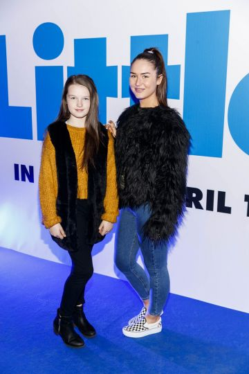 Alicia and Shannon Weafer pictured at a special preview screening of Little at Odeon Point Square, Dublin. Little, starring Girls Trip Regina Hall hits cinemas across Ireland this Friday April 12th. Picture Andres Poveda