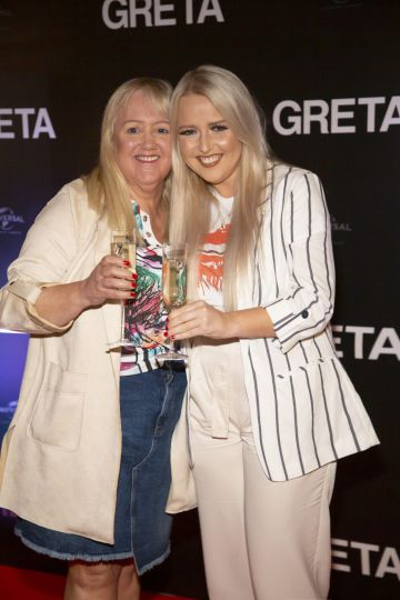 Laura & Geraldine Mullett pictured at a special preview screening of GRETA at The Stella Theatre, Ranelagh. GRETA, directed by Academy Award®-winner Neil Jordan and starring Chloë Grace Moretz and Isabelle Huppert, hits cinemas across Ireland this Thursday 18th April. Photo: Anthony Woods