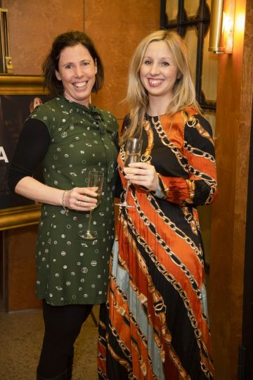 Anne Seclin & Claire Hyland pictured at a special preview screening of GRETA at The Stella Theatre, Ranelagh. GRETA, directed by Academy Award®-winner Neil Jordan and starring Chloë Grace Moretz and Isabelle Huppert, hits cinemas across Ireland this Thursday 18th April. Photo: Anthony Woods