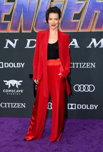 """Canadian actress Evangeline Lilly arrives for the World premiere of Marvel Studios' """"Avengers: Endgame"""" at the Los Angeles Convention Center on April 22, 2019 in Los Angeles. (Photo by VALERIE MACON/ AFP/ Getty Images)"""