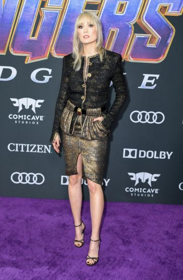 """French actress Pom Klementieff arrives for the World premiere of Marvel Studios' """"Avengers: Endgame"""" at the Los Angeles Convention Center on April 22, 2019 in Los Angeles. (Photo by VALERIE MACON/ AFP/ Getty Images)"""