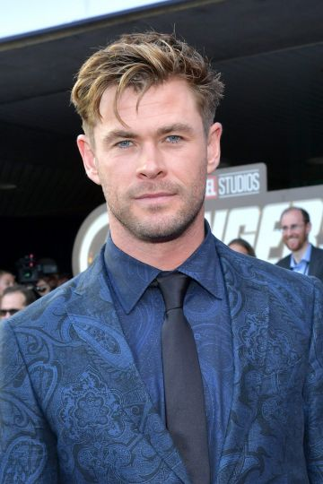 """Chris Hemsworth attends the world premiere of Walt Disney Studios Motion Pictures """"Avengers: Endgame"""" at the Los Angeles Convention Center on April 22, 2019 in Los Angeles, California.  (Photo by Amy Sussman/Getty Images)"""