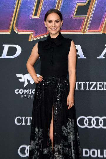 """US/Israeli actress Natalie Portman arrives for the World premiere of Marvel Studios' """"Avengers: Endgame"""" at the Los Angeles Convention Center on April 22, 2019 in Los Angeles. (Photo by VALERIE MACON/AFP/Getty Images)"""