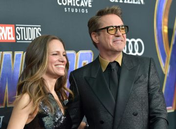 """Susan Downey and Robert Downey Jr. attend the world premiere of Walt Disney Studios Motion Pictures """"Avengers: Endgame"""" at the Los Angeles Convention Center on April 22, 2019 in Los Angeles, California.  (Photo by Amy Sussman/Getty Images)"""