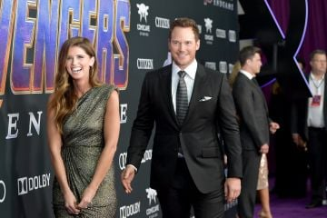 """Katherine Schwarzenegger and Chris Pratt attend the world premiere of Walt Disney Studios Motion Pictures """"Avengers: Endgame"""" at the Los Angeles Convention Center on April 22, 2019 in Los Angeles, California.  (Photo by Amy Sussman/Getty Images)"""