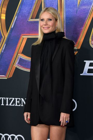 """US actress Gwyneth Paltrow arrives for the World premiere of Marvel Studios' """"Avengers: Endgame"""" at the Los Angeles Convention Center on April 22, 2019 in Los Angeles. (Photo by VALERIE MACON/AFP/Getty Images)"""
