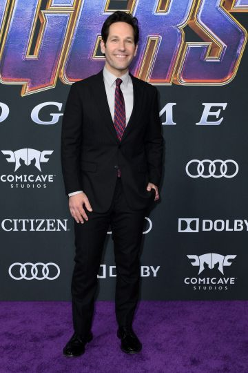 """US actor Paul Rudd arrives for the World premiere of Marvel Studios' """"Avengers: Endgame"""" at the Los Angeles Convention Center on April 22, 2019 in Los Angeles. (Photo by VALERIE MACON/AFP/Getty Images)"""