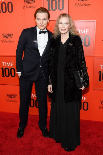 Ronan Farrow (L) and Mia Farrow attend the TIME 100 Gala 2019 Lobby Arrivals at Jazz at Lincoln Center on April 23, 2019 in New York City. (Photo by Dimitrios Kambouris/Getty Images for TIME)