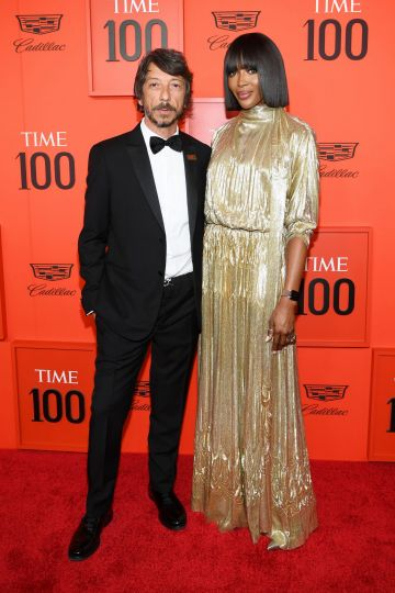 Pierpaolo Piccioli and Naomi Campbell attend the TIME 100 Gala Red Carpet at Jazz at Lincoln Center on April 23, 2019 in New York City. (Photo by Dimitrios Kambouris/Getty Images for TIME)