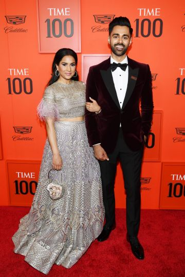 Beena Patel (L) and Hasan Minhaj attend the TIME 100 Gala Red Carpet at Jazz at Lincoln Center on April 23, 2019 in New York City. (Photo by Dimitrios Kambouris/Getty Images for TIME)