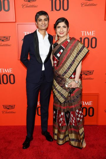 Menaka Guruswamy and Arundhati Katju attend the TIME 100 Gala Red Carpet at Jazz at Lincoln Center on April 23, 2019 in New York City. (Photo by Dimitrios Kambouris/Getty Images for TIME)