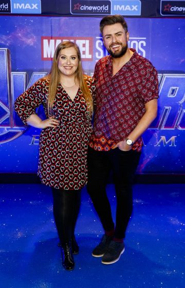 James Patrice with his sister Vanessa pictured at the special preview screening of Marvel Studios' Avengers: Endgame at Cineworld Dublin. Picture by: Andres Poveda