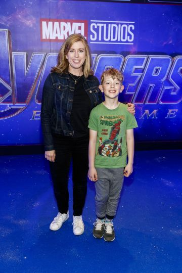 Lesley Conroy and her son Tommy pictured at the special preview screening of Marvel Studios' Avengers: Endgame at Cineworld Dublin. Picture by: Andres Poveda