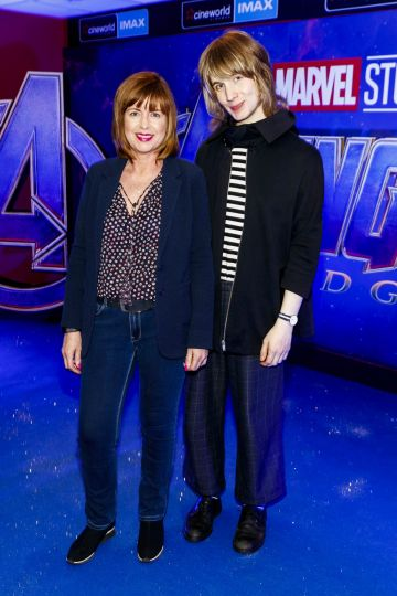 Susan O'Dwyer and Robyn McQuaid-O'Dwyer pictured at the special preview screening of Marvel Studios' Avengers: Endgame at Cineworld Dublin. Picture by: Andres Poveda