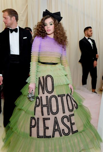 Hailee Steinfeld attends The 2019 Met Gala Celebrating Camp: Notes on Fashion at Metropolitan Museum of Art on May 06, 2019 in New York City. (Photo by Mike Coppola/MG19/Getty Images for The Met Museum/Vogue )