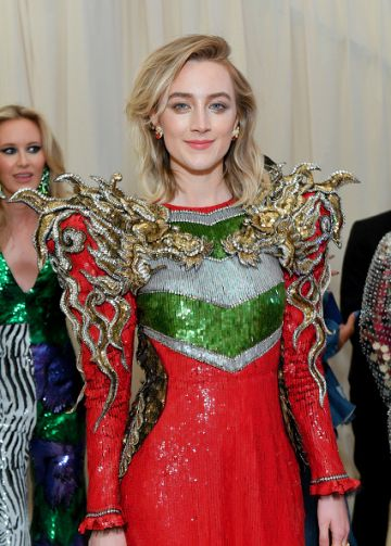 Saoirse Ronan attends The 2019 Met Gala Celebrating Camp: Notes on Fashion at Metropolitan Museum of Art on May 06, 2019 in New York City. (Photo by Mike Coppola/MG19/Getty Images for The Met Museum/Vogue )