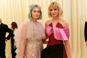 Lucy Boynton and Carey Mulligan attend The 2019 Met Gala Celebrating Camp: Notes on Fashion at Metropolitan Museum of Art on May 06, 2019 in New York City. (Photo by Mike Coppola/MG19/Getty Images for The Met Museum/Vogue )