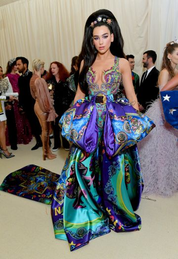 Dua Lipa attends The 2019 Met Gala Celebrating Camp: Notes on Fashion at Metropolitan Museum of Art on May 06, 2019 in New York City. (Photo by Mike Coppola/MG19/Getty Images for The Met Museum/Vogue )